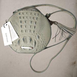 Brahmin NWT Croc Lane Leather Crossbody Purse